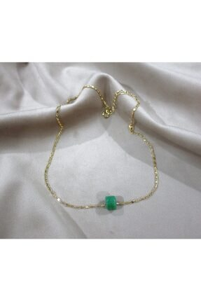 Shine Jewelery Paslanmaz Çelik Doğal Taş İnce Kolye
