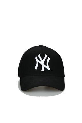 North Polo Club Ny New York Şapka Unisex Siyah Beyaz Modeli