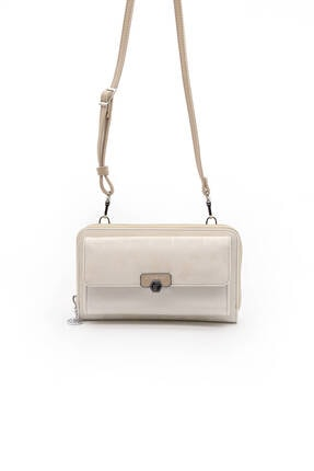 Silver Polo Sılver Polo I.beyaz Üç Bölmeli Kadın Çapraz Askılı Telefon Cüzdanı/cüzdan & Kartlık Sp921
