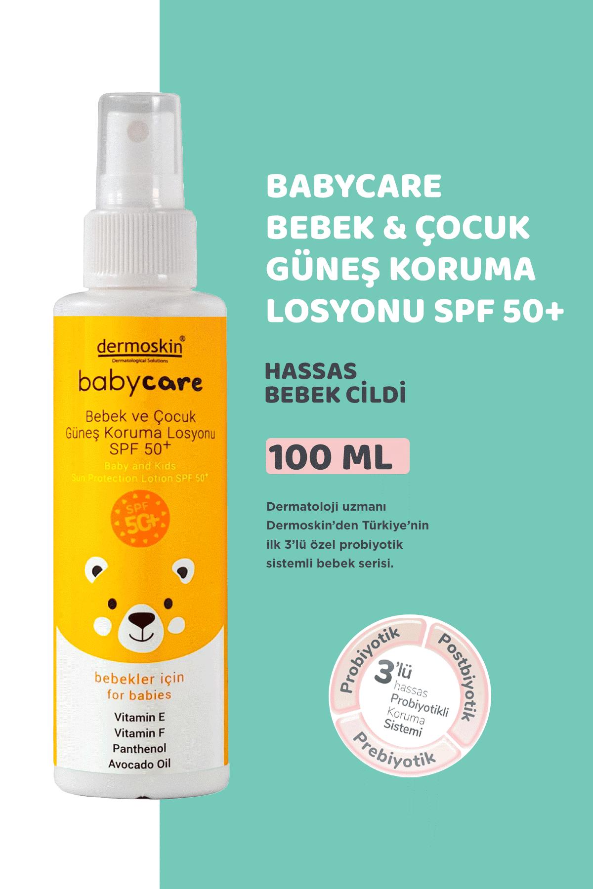 Dermoskin BabyCare Bebek ve Çocuk Güneş Koruma Losyonu Spf50+ 100 ml