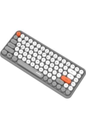 comse Ajazz 308ı Renkli Daktilo Tarzı Vintage Kablosuz Klavye