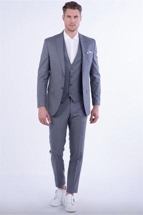 Efor Tk 814 Slim Fit Gri Spor Takım Elbise