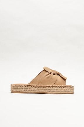 Elle Shoes Naturel Deri Kadın Espadril