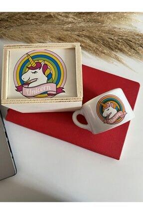 TreeKitchen Unicornlu Ahşap Kutulu Porselen Kupa Seti