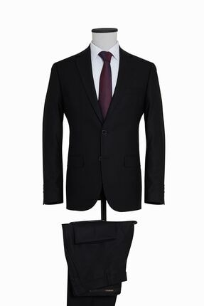 Hatemoğlu Siyah Slim Fit Takım Elbise