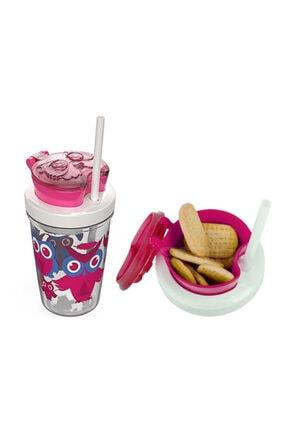 BUENO Snack Straw Pınk 350 Ml - 1000-0626 Çocuk Suluk