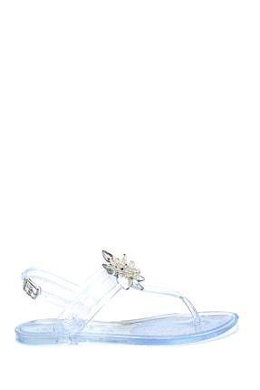 Derimod Kadın Taş Aksesuarlı Casual Parmakarası Sandalet