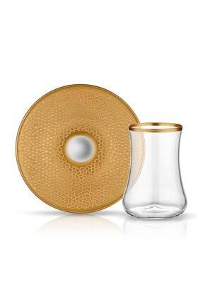 Koleksiyon1 Dervish Çay Seti 6'lı Serpantin Altın