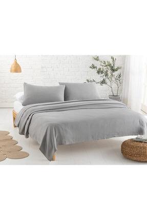 English Home Cool Stripe Soft Touch King Size Pike Seti 220x240 Cm Gri