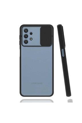 Samsung Cover Station Galaxy A32 4g Kılıf Slayt Kaydırmalı Kılıf Kamera Korumalı Renkli Silikon Lensi Kılıf