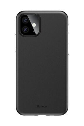 Baseus Wing Case Iphone 11 6.1 2019 Ultra Ince Lux Mat Şeffaf Kılıf Siyah