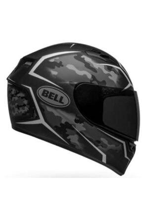 Bell Stealth Camo Matte Black-whıte Motosiklet Kaskı Kapalı