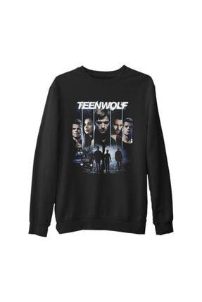 Lord T-Shirt Teen Wolf Siyah Erkek Kalın Sweatshirt