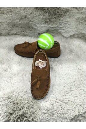 Metin Ayakkabı Taba Rengi Içi Dışı Hakiki Deri Ortopetik Çocuk Ayakkabı