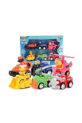 PAW PATROL Oyuncak Görev Araçları 6 Karakter Ve Araçları Set  Altı Karakter Araba Set