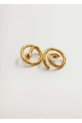 MANGO Woman Kadın Altın Sarısı Kabartmalı Spiral Küpe 87052517
