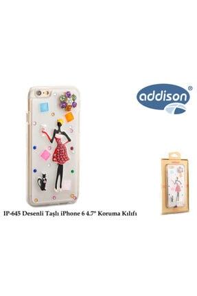 ADDISON Desenli Taşlı Iphone 6 Koruma Kılıfı