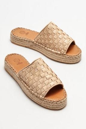 Elle Shoes Deri Kadın Espadril