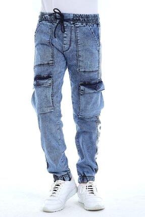 NORMANİ Erkek Jeans Paça Ve Bel Lastikli Kot Pantolon
