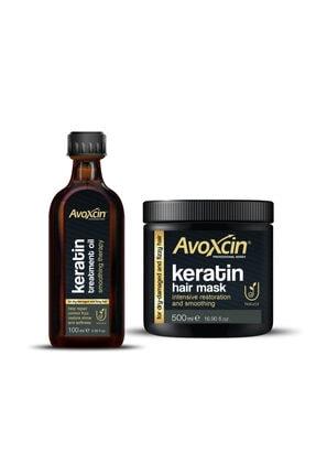 AVOXCIN Onarıcı Nemlendirici Keratin Saç Botoksu Ve Maskesi 2'li Set