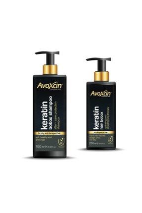 AVOXCIN Yıpranmış Saçlara Özel Hair Botox - Saç Botoksu & Şampuan 2'li Set