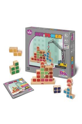 Zetzeka Zet Tower (KÜÇÜK MÜHENDİSLER) Zeka Ve Mühendislik Oyunu 3 Yaş 1-2 Oyuncu