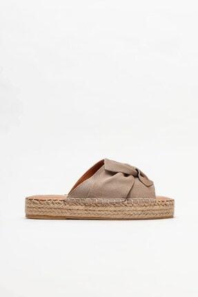 Elle Shoes Vizon Deri Kadın Espadril