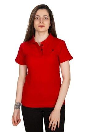 pollenti Lakost Kadın T-shirt Kırmızı Slimfit