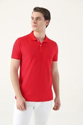 D'S Damat Slim Fit Kırmızı Çizgili T-shirt