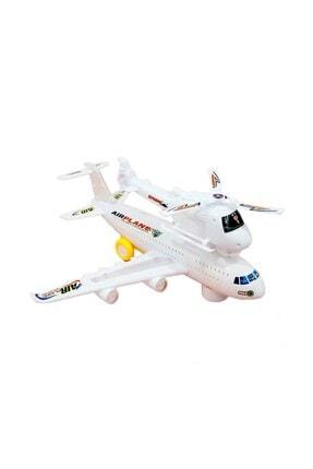 CAN OYUNCAK Air Plane Pilli Işıklı Sesli Çarp-dön Uçak Ve Helikopter