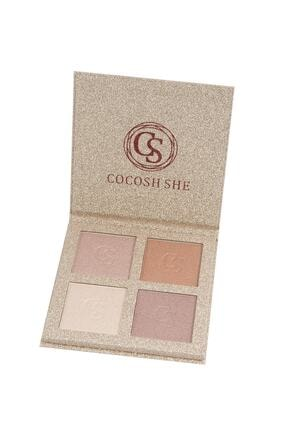 Cocosh She 4'lü Aydınlatıcı Paleti Bright 4 Color Highlighter 8681569700048