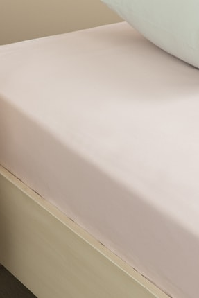 English Home Düz Pamuklu Çift Kişilik Lastikli Çarşaf 160x200 Cm Toz Pembe