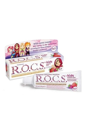 R.O.C.S. Rocs Kids Yaz Esintisi Ahududu& Çilek Diş Macunu 45g 4-7 Yaş 4607034470517