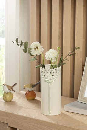 English Home Dandelion Vazo 9.4x9.4x22.8 Cm Bej