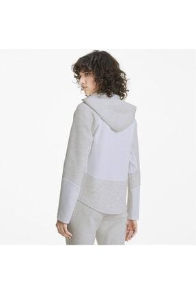 Puma EVOSTRIPE FZ Gri Kadın Sweatshirt 101119405