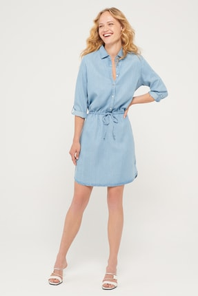 Mavi Kadın Myla Gold Mavi Denim Elbise 131047-33605