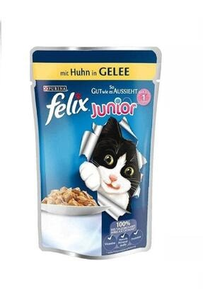 FELIX Junior Pouch Tavuklu Yavru Yaş Kedi Maması 100 Gr