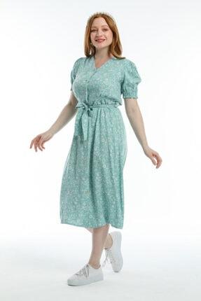 Pitti Kadın Viskon Desenli Elbise