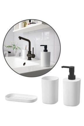 IKEA Storavan 3 Parça Banyo Tuvalet Sabunluk Fırçalık Seti