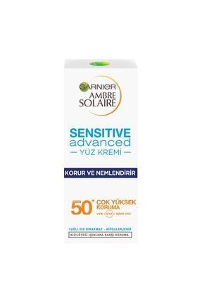 Garnier Ambre Solaire Sensitive Advanced Yüz Kremi Spf50 50 Ml