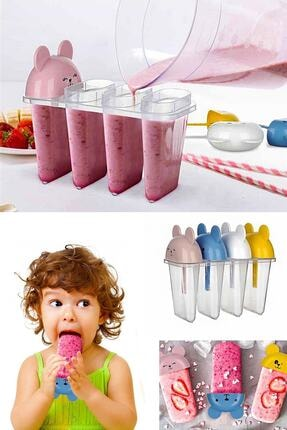 Emofom Snowy Dondurma Kabı Figürlü Dondurma Kabı Renkli Dondurma Kabı Çubuklu Dondurma Kalıbı