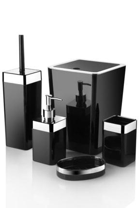 Queen's Kitchen 5 Parça Akrilik Metalize Kaplamalı Lüx Banyo Seti