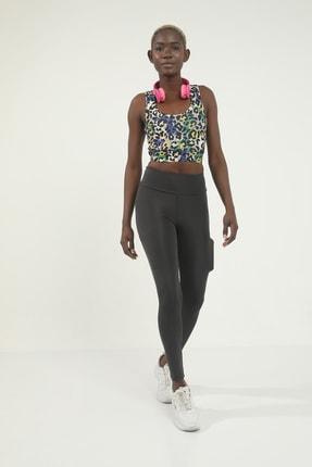 Grenj Fashion Sarı Leopar Desen Dijital Baskılı Basic Büstiyer
