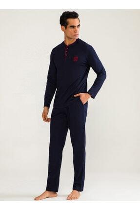 D'S Damat Erkek Koyu Lacivert Pijama Takımı