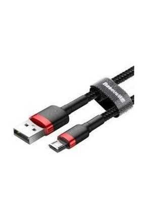 Baseus Cafule Micro Usb 1 Metre 2.4a Hızlı Şarj Halat Usb Kablo-kırmızı-siyah