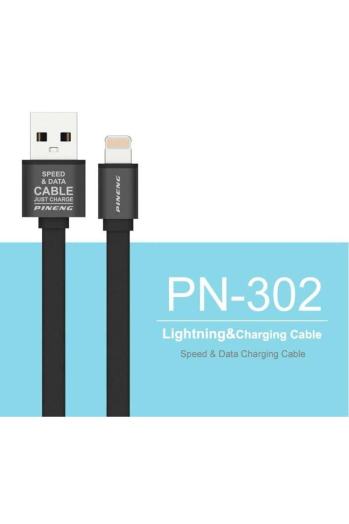 Pineng Data Şarj Kablosu Pn-302 Lightning '' Iphone, X, Xr, Xs,xs Max ''1 Metre Yüksek Hızlı - Beyaz 2