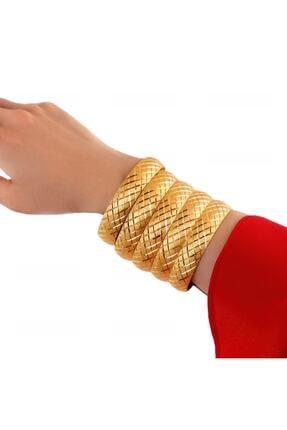 Yıldız Gold İmitasyon 22 Ayar Altın Kaplama 1.5 Cm Baklava Model Bilezik