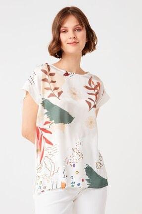 Chima Önü Desenli Bluz