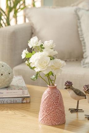 English Home Floral Porselen Vazo 9,1x9,1x12,2 Cm Pembe