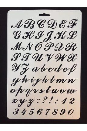 CRAFT HOBİ (meyco) Stencil (şablon) 21x31 Alfabe 1